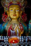 Maitreya Buddha at Thiksey Monastery  Leh  Ledakh  India