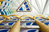 Abstract of Pillars at Burj Al Arab  Dubai  United Arab Emirates