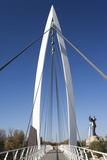 Keeper of the Plains Footbridge  Arkansas River  Wichita  Kansas  USA