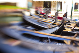 Gondolas on the Canals of Venice  Italy