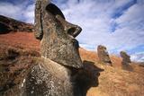 Rano Raraku  Moai  Easter Island  Chil