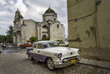 1950's Era Antique Car and Street Scene from Old Havana  Havana  Cuba
