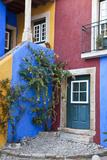 Colorful Houses  Obidos  Leiria  Portugal
