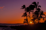 Sunset at Poipu Beach  Kauai  Hawaii  USA