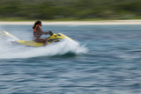 Jet Ski Activities on the West Side of Isla Cozumel  Mexico