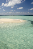 Sandbar Surrounded by Crystal Water  Goff Caye  Caribbean Sea  Belize