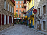 The Streets of Old Quebec City in Quebec  Canada