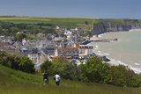 Elevated Town View  Arromanches Les Bains  Normandy  France