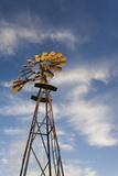 Vintage Farm Windmills at Sunset  Elk City  Oklahoma  USA