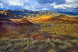 Landscape of the Painted Hills  Oregon  USA