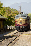 Napa Valley Wine Train in Train Station  California  USA