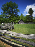 The Puckett Cabin  Blue Ridge Parkway  Virginia  USA