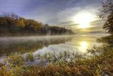 Lake Jacomo at Sunset  Fleming Park  Kansas City  Missouri  USA