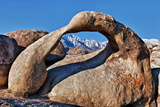 Mobius Arch Framing Mt Whitney in Long Pine  California  USA