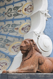 Lion Statue  Dunkirk Baths  Dunkerque  French Flanders  France