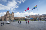 Church of La Compania De Jesus and Plaza  Cuzco  Peru