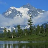 Picture Lake and Mt Shuksan  North Cascades NP  Washington  USA