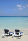 Sand and Beach Chairs Await Tourists  Varadero  Cuba