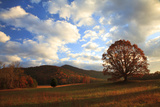 Sunrise in the Fall  Cades Cove  Smoky Mountains NP  Tennessee  USA