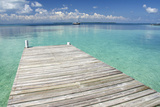 Pier over Clear Waters  Southwater Cay  Stann Creek  Belize