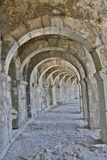 Archways Old Roman Theater at Aspendos Near Anatalya  Turkey