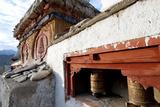 Prayer Wheels and a Decorated Chorten  Ladakh  India
