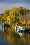 Mississippi River Houseboats  Autumn  Minneapolis  Minnesota  USA