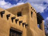 New Mexico Adobe Architecture  Santa Fe  New Mexico  USA