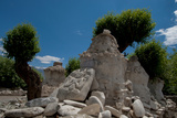 Chortens  Prayer Stones  Stone Figure Near Stok Palace  Ledakh  India