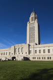 Nebraska State Capitol Exterior  Lincoln  Nebraska  USA