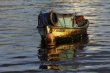 Quaint Fishing Boat on Havana Bay at Sunrise  Havana  Cuba