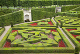 Formal Gardens of Chateau Villandry Near Tours  Loire Valley  France