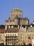 Chateau Frontenac from Place De Paris  Quebec City  Quebec  Canada