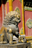 Bronze Mythological Lion Statue  Forbidden City  Beijing  China