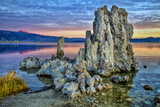 Sunrise on Tufa Formations  Mono Lake  California  USA