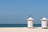 Male and Female Changing Stations on Beach  Dubai  UAE