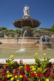 The Ornate Rotonde Fountain in Aix-En-Provence  France