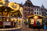 Christmas Market in Downtown Obernai  Alsace  France