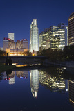 Gene Leahy Mall Skyline at Dawn  Omaha  Nebraska  USA