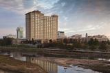 Skyline by the Arkansas River  Wichita  Kansas  USA