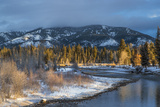 Blackfoot River at Sunrise Near Ovando  Montana  USA