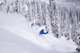 Skiing Powder  Whitefish Mountain Resort  Montana  USA