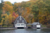 Island Home in Autumn  American Narrows  New York  USA