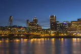 City Lights Reflected in the Willamette River  Portland  Oregon  USA