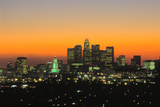 Los Angeles Skyline  California  USA