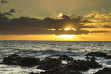 Scenic of Ocean Sunset  Kihe  Maui  Hawaii  USA