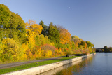 Autumn Trees  Oswego Canal  New York  USA