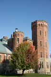Historic National Guard Armory in Autumn  Ogdensburg  New York  USA