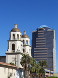 Saint Augustine Cathedral and Downtown Buildings  Tucson  Arizona  USA