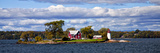 Island Home and Lighthouse on the Thousand Islands  New York  USA